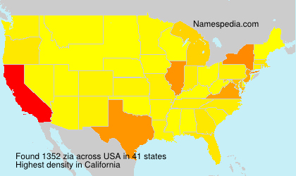 Surname zia in USA